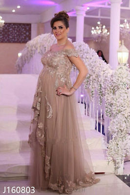 Plus Size Mother Of The Bride Dresses Lace Appliques Evening Formal Party Gowns+