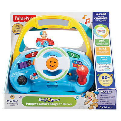 Fisher-Price Laugh & Learn Puppy Smart Stages Driver - NEW