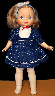 Vintage Fisher-Price My Friend Mandy Doll #215 in Blue w/ Extra Nightgown - VGC