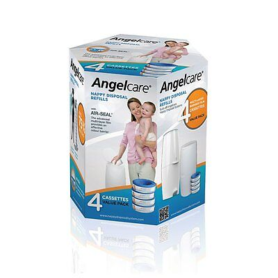 Angelcare 4 Pack Nappy Refill Cassettes - NEW