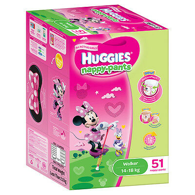Huggies Nappy pants Walker Girl Jumbo 51-Pack - NEW