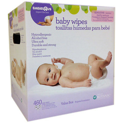 Babies R Us Unscented Baby Wipes 460 Pack - NEW