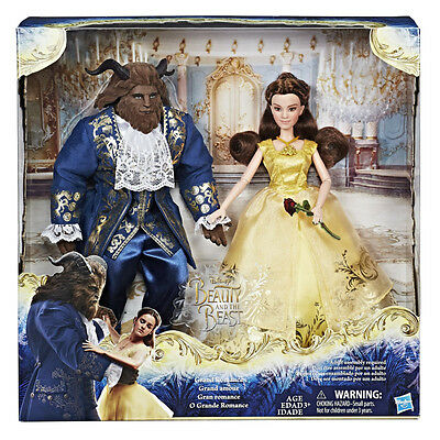 Disney Beauty And The Beast Belle & Beast 2-Pack - NEW