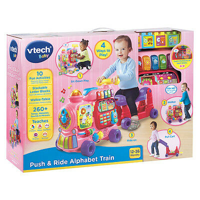 Push & Ride Alphabet Train Pink - NEW