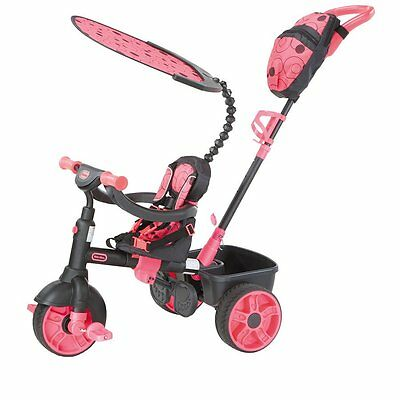 Little Tikes 4 in 1 Deluxe Trike - Neon Pink - NEW