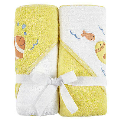 Koala Baby Fish 2 Pack Hooded Towels - NEW