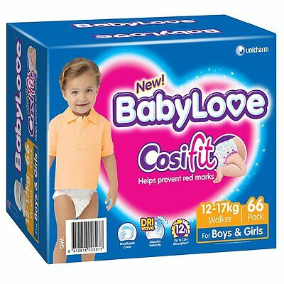 BabyLove Jumbo Cosifit Nappies Walker 66 Pack - NEW