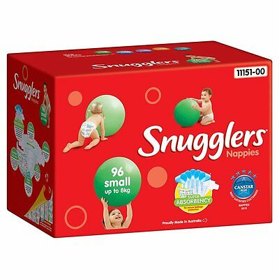 Snugglers Small Jumbo Nappies - 96-Pack - NEW