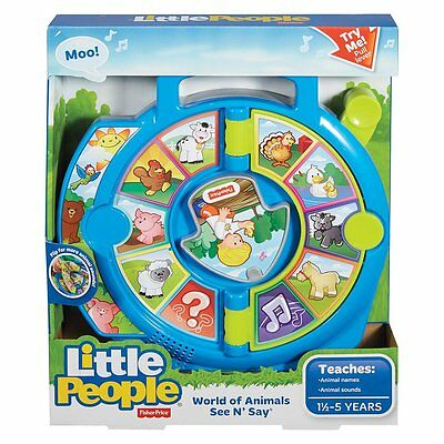 Fisher-Price Little People World Of Animals See 'N Say - NEW