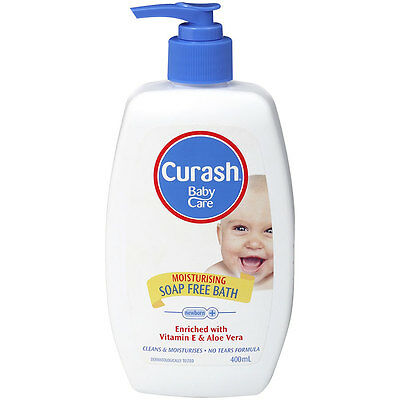 Curash Moisturising Soap Free Baby Bath 400ml - NEW