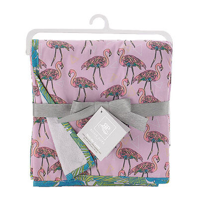 Rosie Pope Multi-Use Coverlet - Flamingo Print - NEW