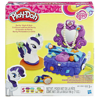 Play-Doh My Little Pony Rarity Style and Spin Set - NEW