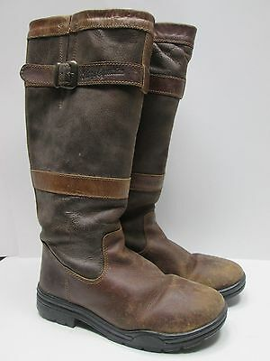 Horze Equestrian Brown Leather Distressed Boots Size 10?