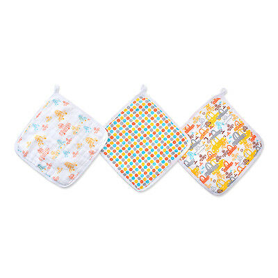 Aden & Anais Washcloth 3 Pack - Sunday Drive - NEW