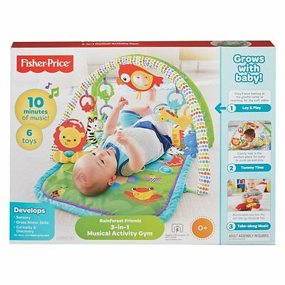 Fisher-Price 3-In-1 Musical Activity Gym - NEW