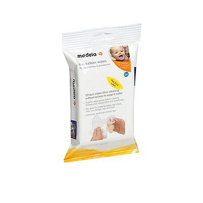 Medela Quick Clean Wipes 24 Pack - NEW