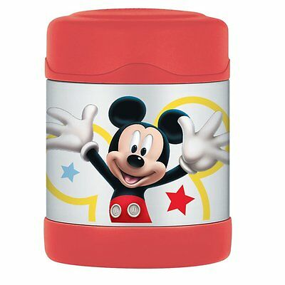 Thermos Stainless Steel Vacuum Insulated Food Jar 290ml - Mickey Mouse - NEW