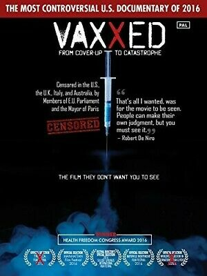 Vaxxed: From Cover-Up To Catastrophe (2017, DVD NUEVO) (REGION 1)