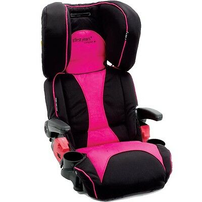 First Years Pathway Ultra Folding Adjustable Booster Seat - Pink - NEW