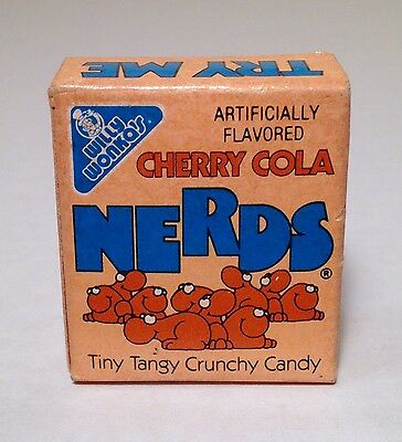 Vintage 1984 Willy Wonka CHERRY COLA Snack NERDS Candy Box Container Sunmark PEZ