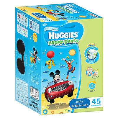 Huggies Nappy pants Junior Boy Jumbo 45-Pack - NEW