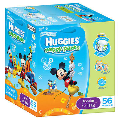 Huggies Nappy pants Toddler Boy Jumbo 56-Pack - NEW