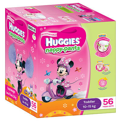 Huggies Nappy pants Toddler Girl Jumbo56-Pack - NEW