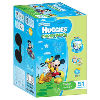 Huggies Nappy pants Walker Boy Jumbo 51-Pack - NEW