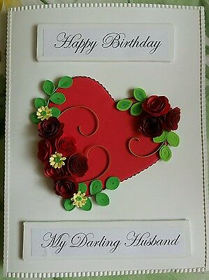 handmade paper quilled greeting card