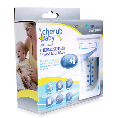 Cherub Natripur Thermosensor Breast Milk Bags 50 Pack - NEW