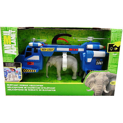 Animal Planet Elephant Rescue Helicopter Playset - NEW