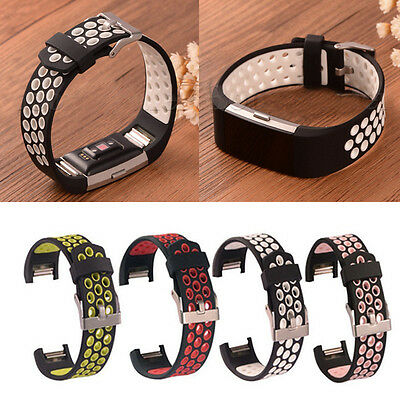 Wristband Bracelet Silicone For Fitbit Charge 2 II Wrist Watch Band Strap Sports