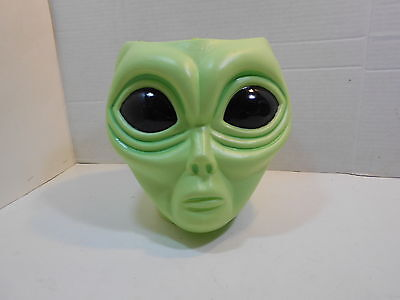 Large Green ALIEN POPS Candy Store Counter Display Roswell UFO Head No Lid