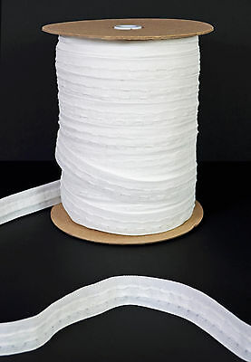 1 Inch 25mm White Curtain Heading Header Tape - 10 Metres