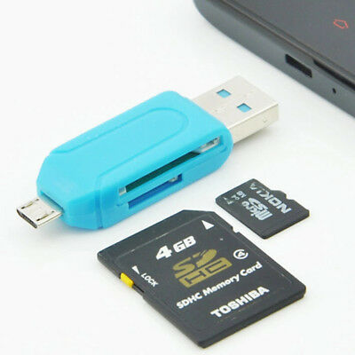 2in1 Micro USB 2.0 + OTG Kartenleser Adapter SD Card Reader für Handy Tablet PC
