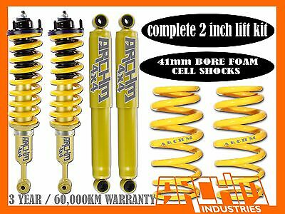 """NISSAN NAVARA NP300 2014-ON COIL CAB ARCHM4X4 & COIL SPRING 2""""INCH 50mm LIFT KIT"""