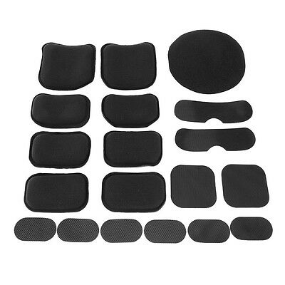 19pcs Outdoor Helmet Pads Replacement Helmet EVA Pads Accessories Kit Black BT
