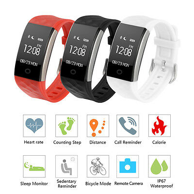 Smart Watch Bluetooth OLED Band Tracker Heart Rate Monitor Calorie Step Counter