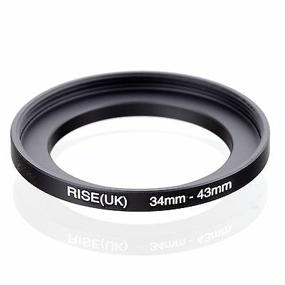 RISE(UK) 34-43mm 34mm to 43mm Stepping Step Up Filter Ring Adapter 34-43