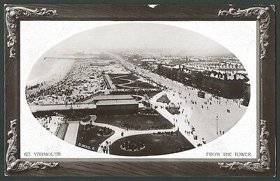 Great Yarmouth Norfolk From The Tower 1912 Rotary Real Photo Postcard
