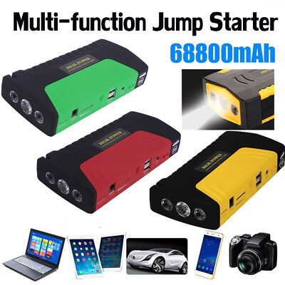 68000ma Portable Emergency Start Car Jump Starter Power Bank With Three LightsMU