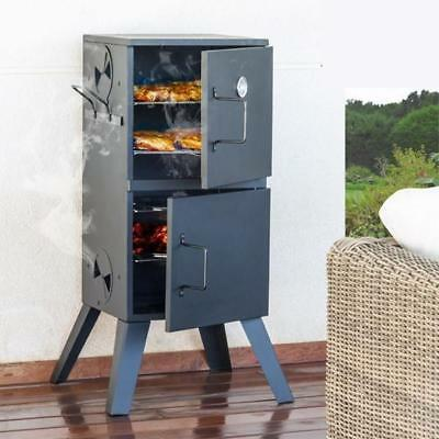 Vertical Barbecue Charcoal Coal BBQ  Smoker Cooker Outdoor Grill
