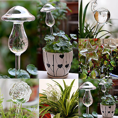 WELL Glass Self Watering Device Automatic Garden Sprinklers Waterer Houseplant