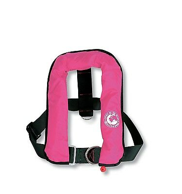 Child ISO Automatic Life Jacket with harness 150N available in pink, navy or red