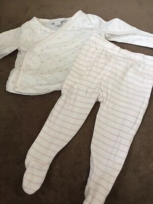 Baby Girls Pyjamas 0-3 Months The Little White Company Excellent Condition