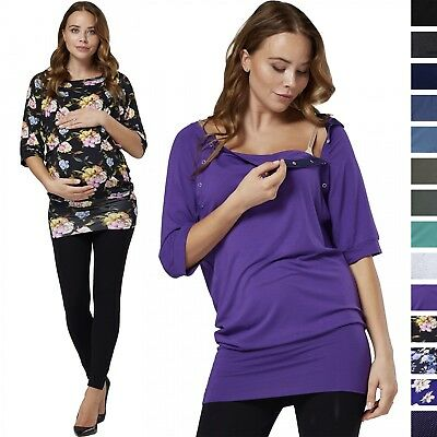 Happy Mama. Women's Nursing Top Batwing Sleeves Maternity Breastfeeding. 023p