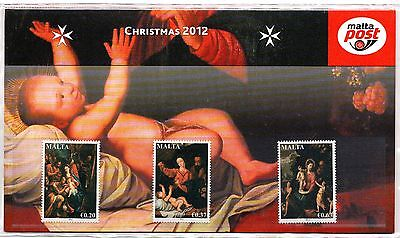 Malta 2012 Christmas Presentation Pack SG 1826 - 1828 Unmounted Mint