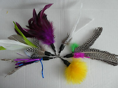 Cat Kitten Toy Feather Refill will Fit Da Bird and Frenzy Style Wands
