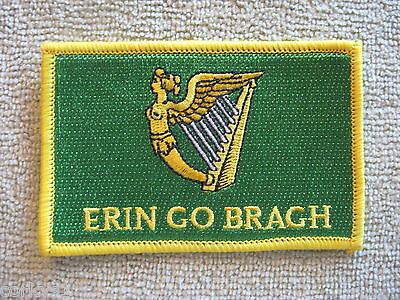 "Ireland ""Erin Go Bragh"" Flag Patch Erin Go Bragh Patch Irish Harp Ireland AOH"