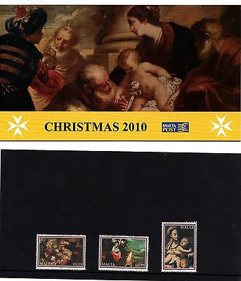 Malta 2010 Christmas Presentation Pack SG1678 - 1680 Unmounted Mint